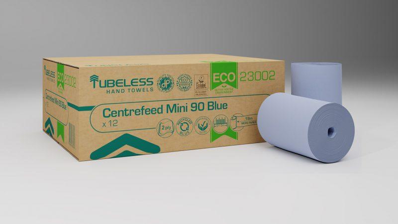 23002 Eco centrefeed mini 90 blue