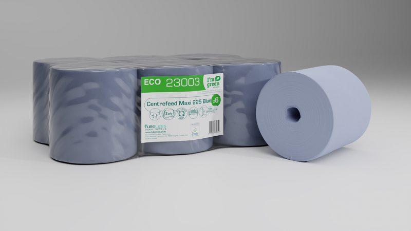 23003 Eco centrefeed maxi 225 blue