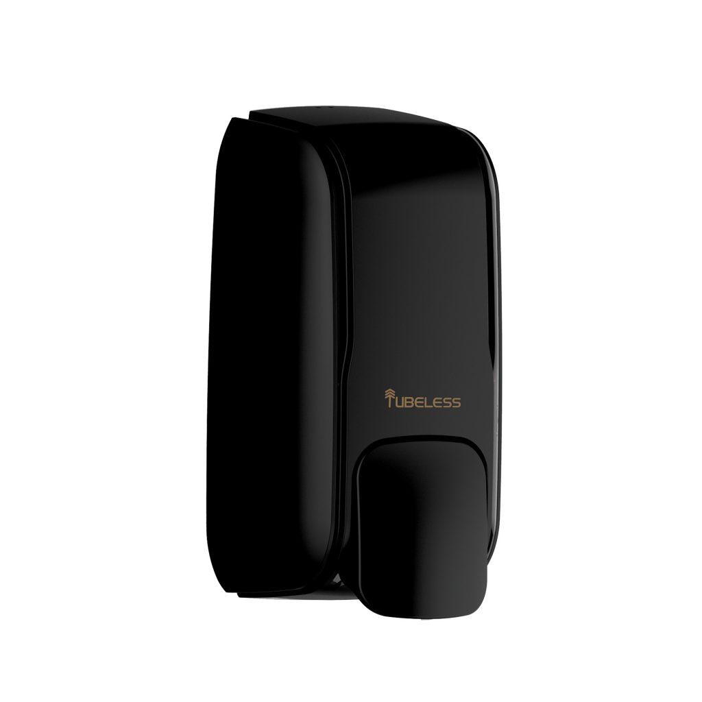 Tubeless Executive Black Manual Soap Dispenser